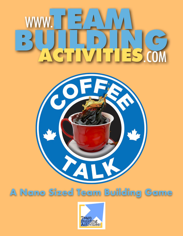 Team Building Activities, Book Cover, Tyler Hayden, www.teambuildingactivities.com, coffee splash, blue, beige, book cover