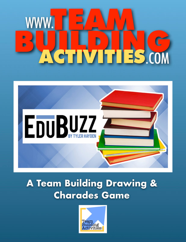 Team Building Activities, Book Cover, Tyler Hayden, www.teambuildingactivities.com, stack of books, blue book cover, education