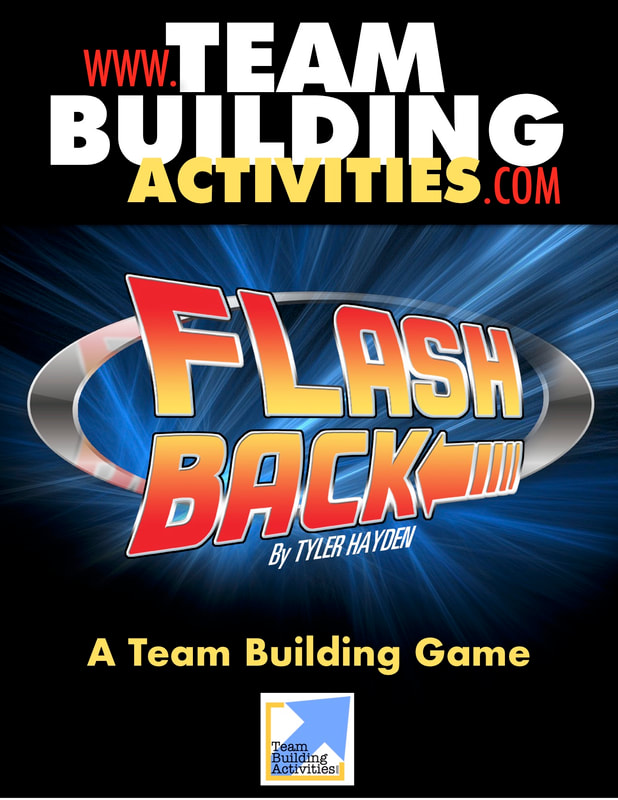 Team Building Activities, Book Cover, Tyler Hayden, www.teambuildingactivities.com, back to the future style logo, black cover