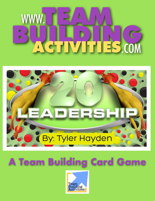 Team Building Activities, Book Cover, rubber chickens, Tyler Hayden, Green book cover