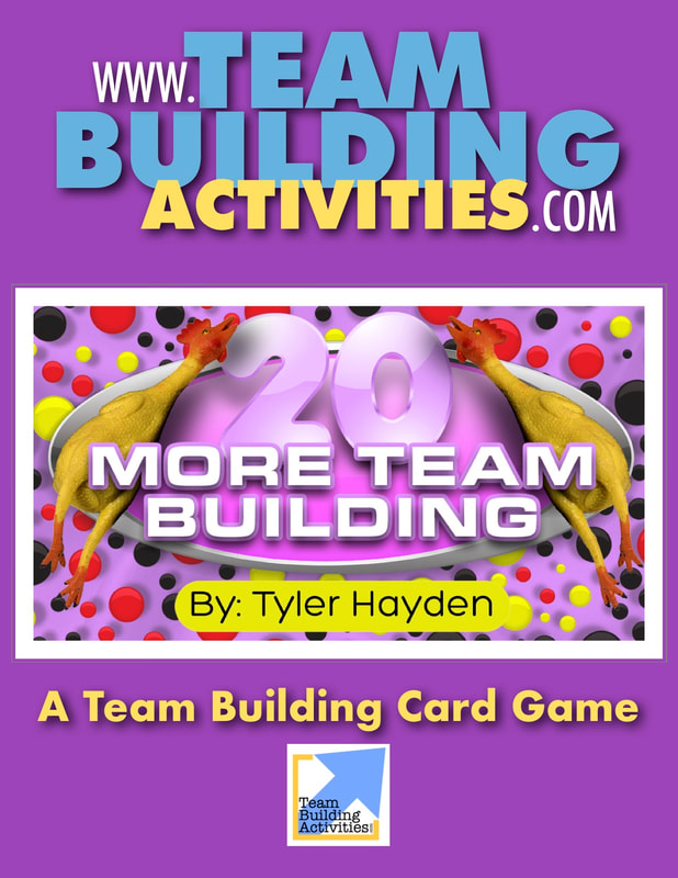 Team Building Activities, Book Cover, Purple, rubber chickens, 20, Tyler Hayden