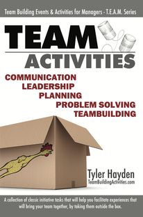 Team Building Activities, Book Cover, Tyler Hayden, www.teambuildingactivities.com